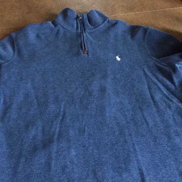Polo by Ralph Lauren Other - Polo quarter zip sweater Men's M Navy like new!